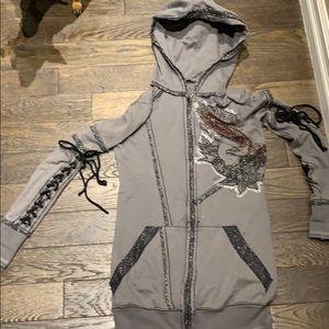 Salvage studded hoodie